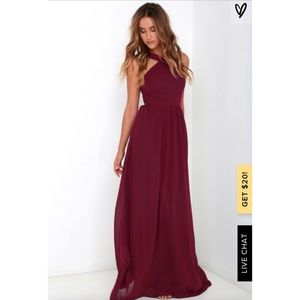 Air of Romance Burgundy Maxi Dress Size Small
